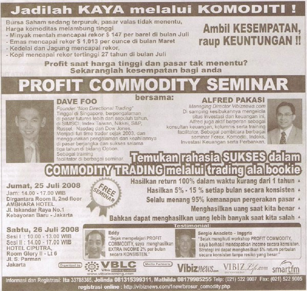 Indonesia Options Course Seminar